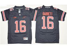 Mens Ncaa Nfl Ohio State Buckeyes #16 J.t. Barrett Blackout Jersey