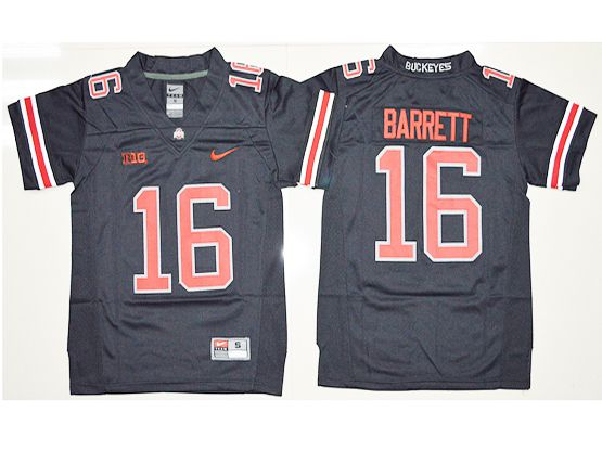 Mens Ncaa Nfl Ohio State Buckeyes #16 J.t. Barrett Blackout Jersey
