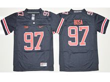 Mens Ncaa Nfl Ohio State Buckeyes #97 Joey Bosa Navy Blue Blackout Jersey