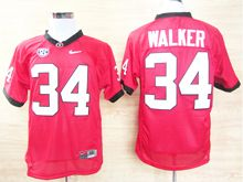 Mens Ncaa Nfl Georgia Bulldogs #34 Herchel Walker Red Throwback (mesh) Jersey
