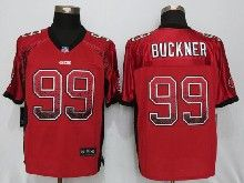 Mens Nfl San Francisco 49ers #99 Deforest Buckner Red Drift Fashion Elite Jerseys