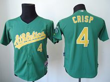Youth Mlb Oakland Athletics #4 Crisp Green Jersey