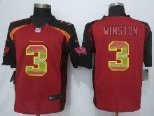 Mens Nfl Tampa Bay Buccaneers #3 Jameis Winston Red Strobe Limited Jersey