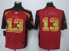 Mens Nfl Tampa Bay Buccaneers #13 Mike Evans Red Strobe Limited Jersey