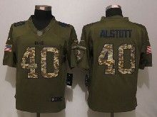 Mens Nfl Tampa Bay Buccaneers #40 Mike Alstott Green Salute To Service Limited Jersey