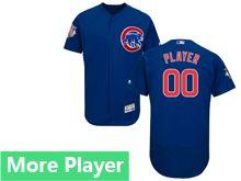 Mens Majestic Chicago Cubs Blue Flex Base Jersey