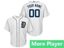 Mens Majestic Detroit Tigers White Cool Base Jersey