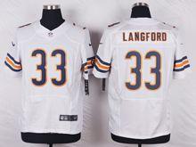 Mens Nfl Chicago Bears #33 Jeremy Langford White Elite Jersey