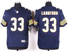 Mens Nfl Chicago Bears #33 Jeremy Langford Blue Elite Jersey