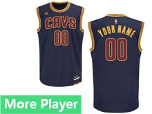 Mens Adidas Cleveland Cavaliers Navy Blue Jersey