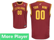 Mens Adidas Cleveland Cavaliers Red Road Jersey