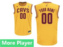 Mens Adidas Cleveland Cavaliers Yellow Jersey