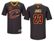 NBA Cleveland Cavaliers #23 LeBron James Black Sleeved Swingman Jersey