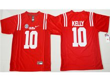 Mens Ncaa Nfl Ole Miss Rebels #10 Chad Kelly Red Jersey(sn)