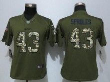 Women  Nfl New Orleans Saints #43 Darren Sproles Green Salute To Service Limited Jersey