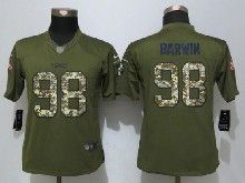 Women  Nfl New Orleans Saints #98 Connor Barwin Green Salute To Service Limited Jersey