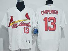 mens majestic st.louis cardinals #13 matt carpenter white Flex Base jersey