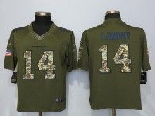 Mens Nfl Miami Dolphins #14 Jarvis Landry Green Salute To Service Limited Jersey