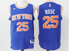 Mens Nba New York Knicks #25 Derrick Rose Blue Jersey