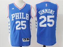 Mens Nba Philadelphia Sixers #25 Ben Simmons Blue (new) Jersey