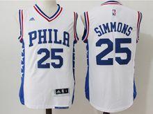 Mens Nba Philadelphia Sixers #25 Ben Simmons White Jersey