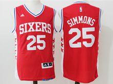 Mens Nba Philadelphia Sixers #25 Ben Simmons Red Jersey