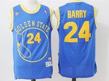Mens Nba Golden State Warriors #24 Rick Barry Throwbacks Jersey