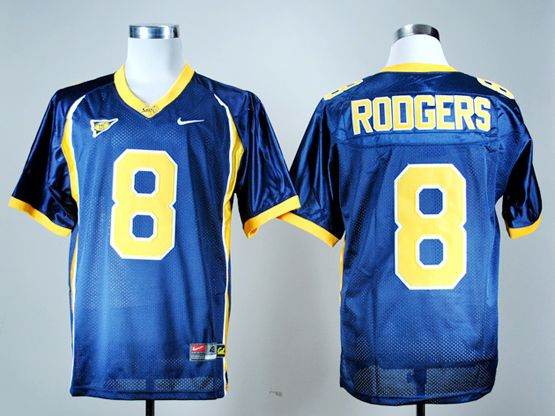 Mens Ncaa Nfl California Golden Bears #8 Aaron Rodgers Navy Blue Jersey