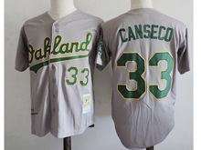 Mens Mlb Oakland Athletics #33 Jose Canseco Gray Jersey(sn)
