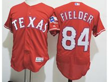 mens majestic texas rangers #84 prince fielder red Flex Base jersey