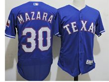 mens majestic texas rangers #30 nomar mazara blue Flex Base jersey