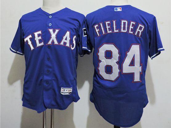 mens majestic texas rangers #84 prince fielder blue Flex Base jersey