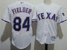 mens majestic texas rangers #84 prince fielder white Flex Base jersey