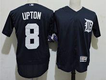 mens majestic detroit tigers #8 justin upton dark blue Flex Base jersey