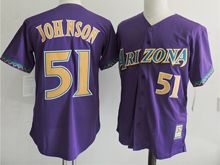 Mens Mlb Arizona Diamondbacks #51 Randy Johnson Purple Jersey
