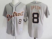 Mens Mlb Detroit Tigers #8 Justin Upton Gray Jersey