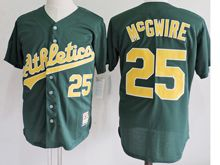 Mens Mlb Oakland Athletics #25 Mark Mcgwire Green Jersey