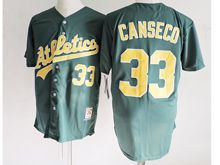 Mens Mlb Oakland Athletics #33 Jose Canseco Green Jersey