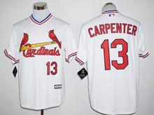 Mens Mlb St.louis Cardinals #13 Matt Carpenter White Pullover Jersey