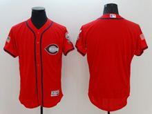 mens majestic cincinnati reds blank red fashion stars stripes Flex Base jersey