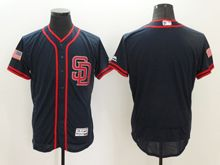 mens majestic san diego padres blank dark blue fashion stars stripes Flex Base jersey