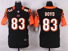 Mens Nfl Cincinnati Bengals #83 Tyler Boyd Black Elite Jersey