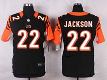 Mens Nfl Cincinnati Bengals #22 Hue Jackson Black Elite Jersey