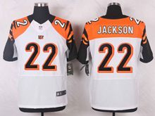 Mens Nfl Cincinnati Bengals #22 Hue Jackson White Elite Jersey
