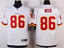 Mens Nfl Washington Redskins #86 Jordan reed White Elite Jersey