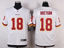 Mens Nfl Washington Redskins #18 Josh Doctson White Elite Jersey