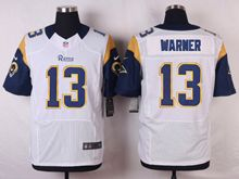 Mens Nfl St. Louis Rams #13 Kurt Warner White Elite Jersey(sn)
