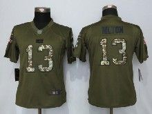 Women  Nfl Indianapolis Colts #13 T.y. Hilton Green Salute To Service Limited Jersey