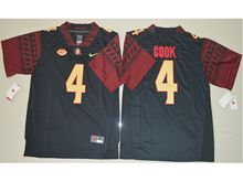 Mens Ncaa Nfl Florida State Seminoles #4 Dalvin Cook Black 4 College Jersey