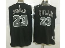 Mens Nba Chicago Bulls #23 Michael Jordan Black (black Number) Revolution 30 Mesh Jersey